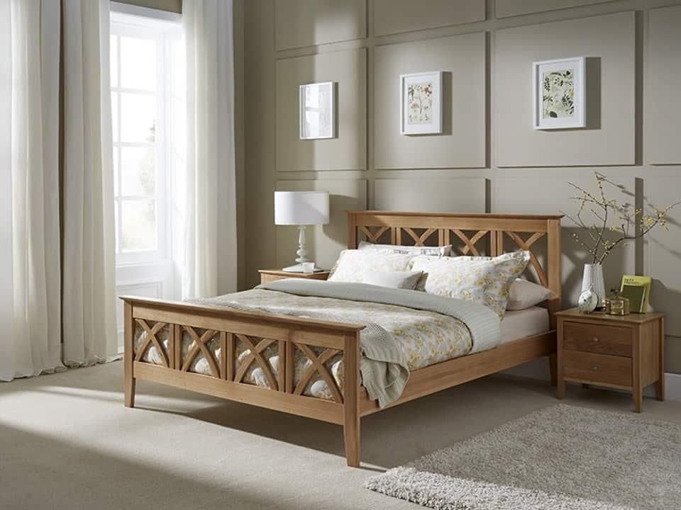 Serene Maiden Oak Bed Frame