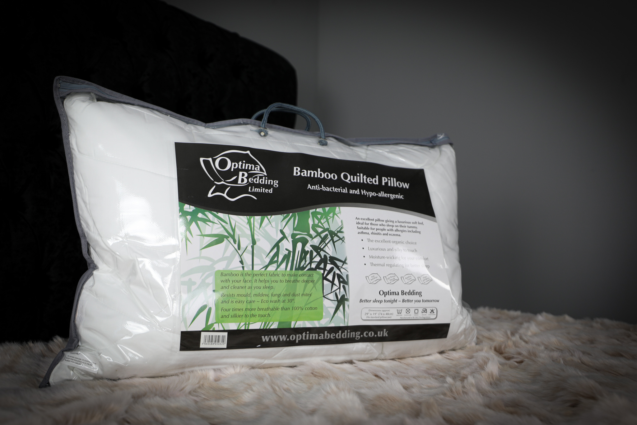 Optima Bamboo Quilted Pillow