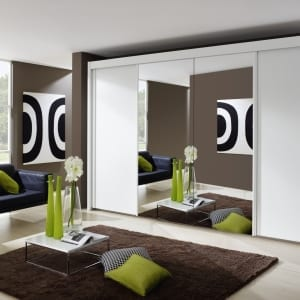 Rauch Imperial White Sliding Wardrobes