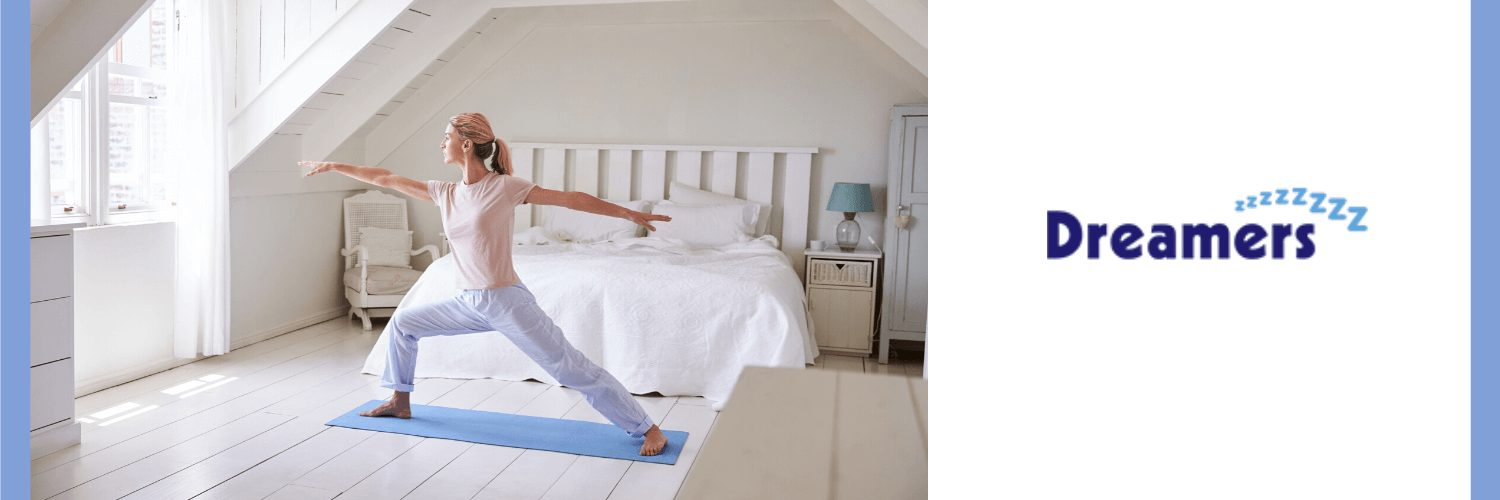 woman exercising to reduce anxiety and improve sleep