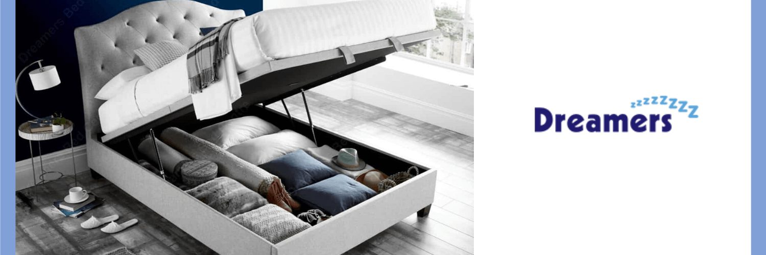 ottoman bed providing bedroom storage