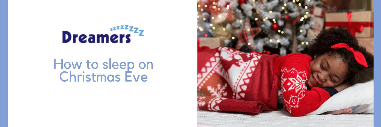 Child falling asleep on Christmas eve