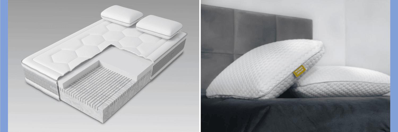 Naturally-cooling Mammoth mattress and pillows